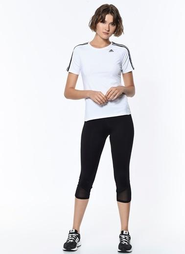 adidas Bisiklet Yaka Tişört Beyaz